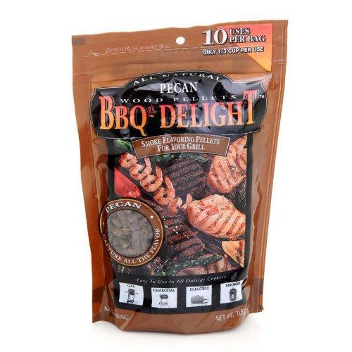 BBQ'rs Delight Pecan Wood Pellets 1lb Bag - Pellet Grills