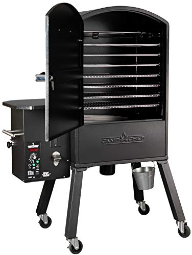 Camp Chef Xxl Vertical Pellet Grill And Smoker Pgvxxl Smart Smoke Technology Patented Ash Cleanout Digital Display Pellet Purge System